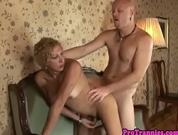 Busty mature ts gets anally doggystyled