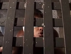 Black slave forced to mate an african girl in chains