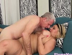 Pierced plumper rimmed and banged sensually