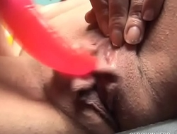 Shy old spunker strips and shows off her big sexy pussy lips