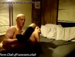 Musceled boy banging her partner hard on the bed and toring her both holes with his long dick (new)