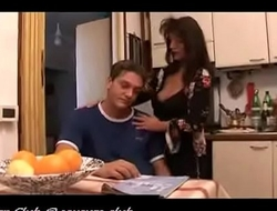 mother comforts son by feeding him her tits and then spreads her legs so he could fuck her til he sh