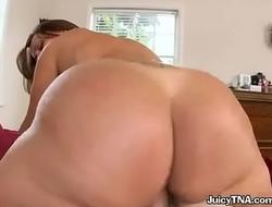 Big ass riding my huge cock with a blowjob