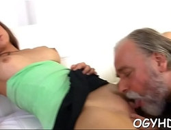 Nasty old crock bonks young pussy
