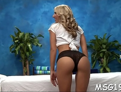 Lovely masseuse with excellent ass