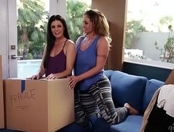 Hot lesbian couple Jenna Sativa and Nina North