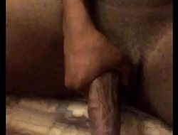 playing with my BIG BLACK COCK