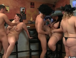 Wild group orgy with huge boobs bbw
