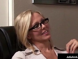 Office Milf Julia Ann Sucks Cock &amp_ Gets Hot Sticky Facial!