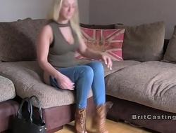 British fake agent sticks cock in blonde