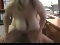 Hot BBW with Big Titsand Visits Her Man'_s Office For a Quickie