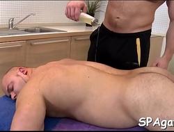 Gratifying a lusty gay man
