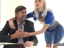 Sensual schoolgirl gets tempted and shagged by her senior teacher