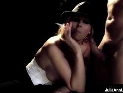MILF Star, Julia Ann Gives A Smokin BJ &amp_ Fucks Guy On Stage!