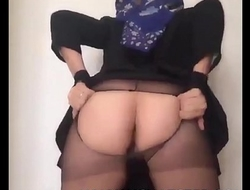 WWW.XCHATSTER.COM HIJABI CAM MODEL RIPS HER TIGHTS REVEALING HER PUSSY!