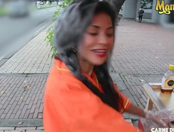 Kinky Colombian chick gets picked up off the street and fucked hard
