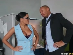 Exotic secretary with big juggs shagged by her handsome boss